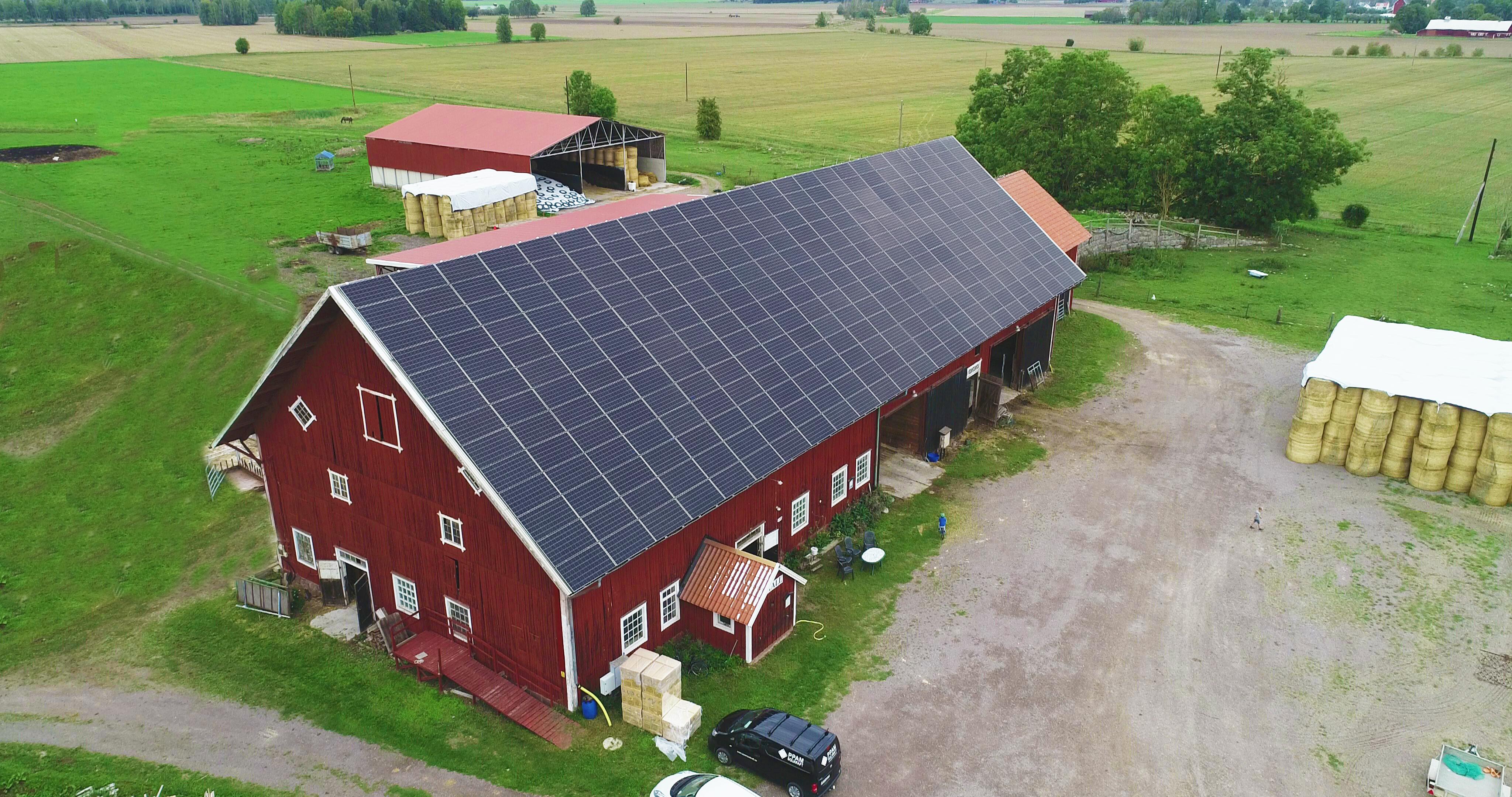 Solceller till lantbruk