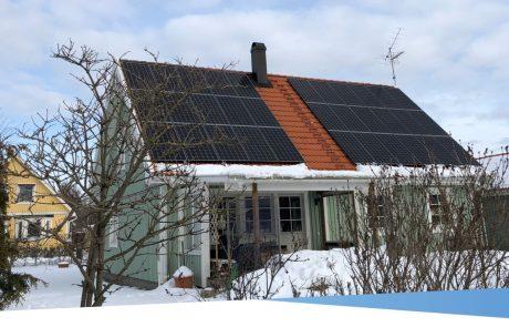 Solpaneler pris på villa